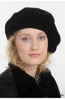 Image for Silk Velvet Beret By Kathleen Mcauliffe