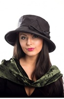 Image for Wide Brim Wax Cotton Rainhat