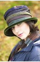 Image for Rose Wax Velvet and Irish Tweed Fashion Hat | Rainhat by Kathleen McAuliffe