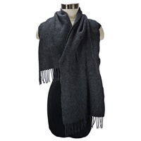 Image for Lambswool Scarf - Black