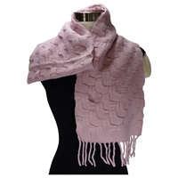 Image for Tivoli Merino Wool Basket Weave Pattern Scarf Pink