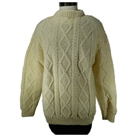 Image for Hand Knitted Irish Crew Neck Pullover Aran Angela O