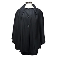 Image for Hand Woven Ladies Tweed Cape, Black