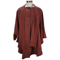 Image for Ladies Long Cape, Red Rust