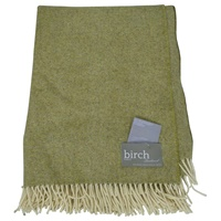 Image for Green Spotted Tweed Lambswool Throw
