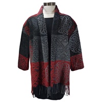 Image for Calzeat Collar Wrap Red/Charcoal