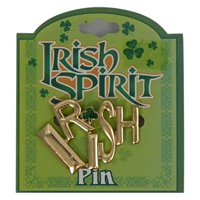 Image for Irish Spirit Pin- Gold