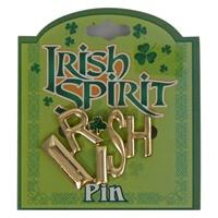 Image for Irish Spirit Pin- Gold