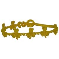 Image for Woven Yellow Shamrock Bracelet