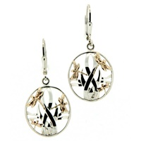 Image for Dragonfly Earrings 10K Yellow Gold and Sterling Silver