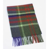 Image for Extra Long Lambswool Scarf - Blue/Red/Green