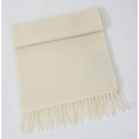 Image for 100% Pure Lambswool Scarf - Antique White