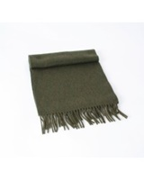 Image for 100% Pure Lambswool Scarf - Olive