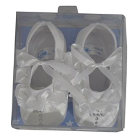 Image for Corrine Baby Shoe- White w/ Crystal Cross