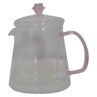 Image for Handmade Rose 16oz Glass Teapot