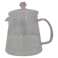 Image for Handmade Rose 16oz Glass Teapot