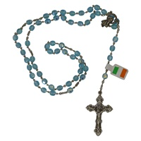 Image for Light Blue Beaded Irish Rosary