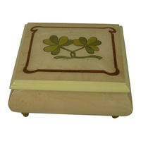 Image for Wooden Shamrock Music Box