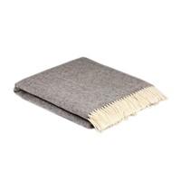 Image for Heritage Pure Wool Herringbone Blanket, Grey Cloud