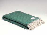 Image for Heritage Pure Wool Herringbone Blanket, Spruce