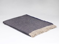 Image for Irish Linen Throw Blanket, Denim