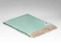Image for Irish Linen Throw Blanket, Mint Green