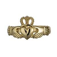 Image for 14K Yellow Gold Gents Claddagh Ring