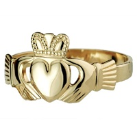 Image for 14K Heavy Gents Claddagh Ring
