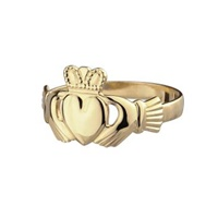 Image for 14K Irish Claddagh Ring Maids Yellow Gold