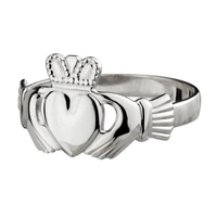 Image for 14K White Gold Maids Claddagh Ring