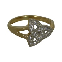 Image for 14K Yellow Gold Diamond Set Trinity Knot Ring