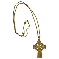 Image for Celtic Cross In 14K Yellow Gold 22mm by 34mm