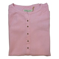 Image for Ladies Grandfather Shirt - Baby Pink