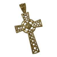 Image for Celtic Cross Pendant - Large Gold