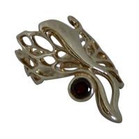 Image for Elena Brennan Gossamer Butterfly Wing Ring, Garnet