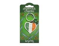Image for Tricolour Heart Keyring