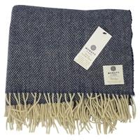 Image for Heritage Pure Wool Ink Tweed Throw Blanket
