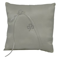 Image for Satin with Crystal Shamrock Ring PIllow