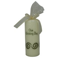 "Image for ""Our Wedding Day"" Pillar Candle - Green"