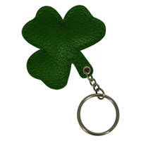 Image for Leather Shamrock Padded Key Ring