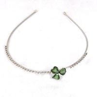 Image for Crystals and Green Enamel Shamrock Headband