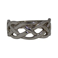 Image for Facet Sterling Silver Celtic Weave Ring