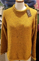Image for Roll Neck Tunic by Rossan Knitwear - Yellow