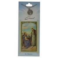 Image for Creed Rosary St. Monica Pendant  w/Prayer Card