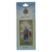 Image for Creed Rosary St. Philip Pendant  w/Prayer Card