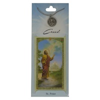 Image for Creed Rosary St. Peter Pendant w/Prayer Card