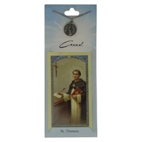 Image for Creed Rosary St. Thomas Pendant w/Prayer Card