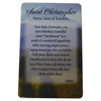 Image for Saint Christopher Prayer Card