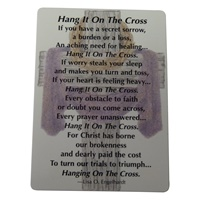 "Image for ""Hang It On The Cross"" Wallet Card"