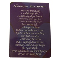 "Image for ""Sharing In Your Sorrow"" Wallet Card"